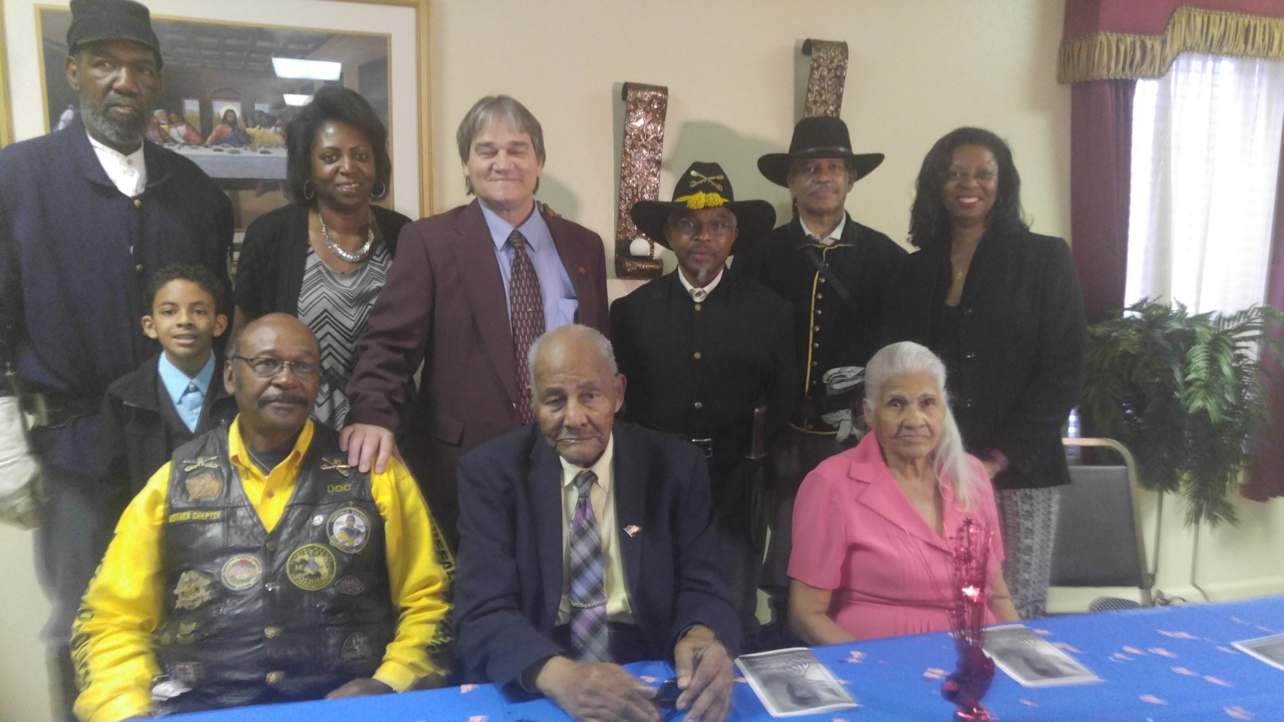 Willie Rogers, first row center, celebrated his 101st birthday in March 2016 surrounded by friends, family.