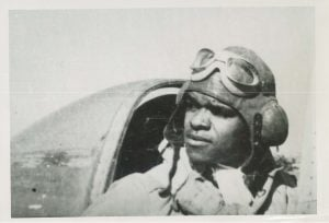 LHS in P-47 Cockpit-1944Photo2