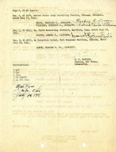 Orders assigning the first aviation cadets to Tuskegee