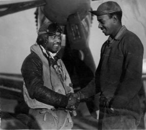 With his Crew Chief - 1943 - 1944
