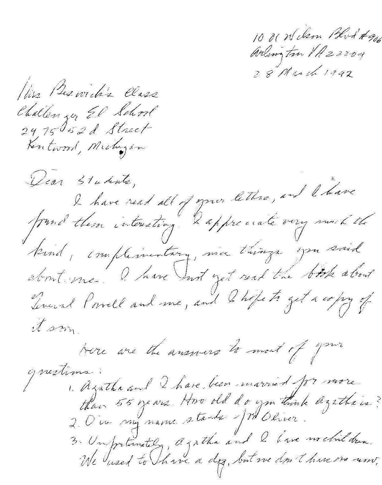 letter from BO Davis