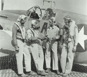 Photo of Tuskegee Airmen courtesy of the Air Force Historical Research Agency.